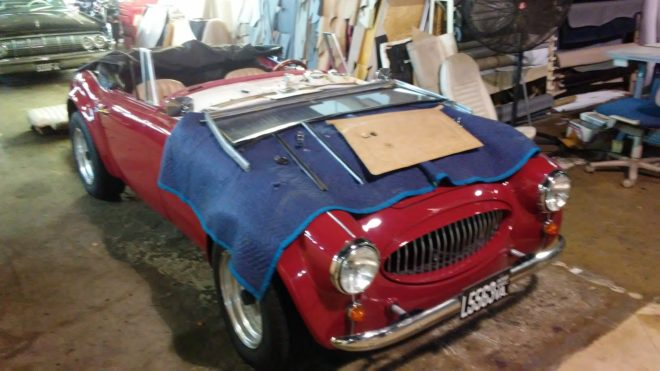 Austin-Healey Kit Car - Seatco is a certified mold removal shop for cars