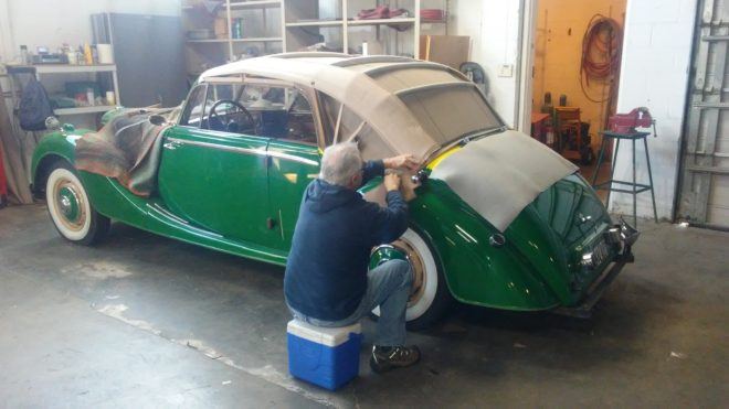1950 Riley - Seatco offers the best convertible repair and new top installation in the country